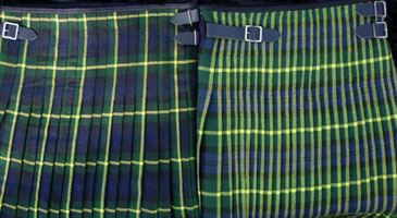 Kilt Pleating: Sett vs. Stripe