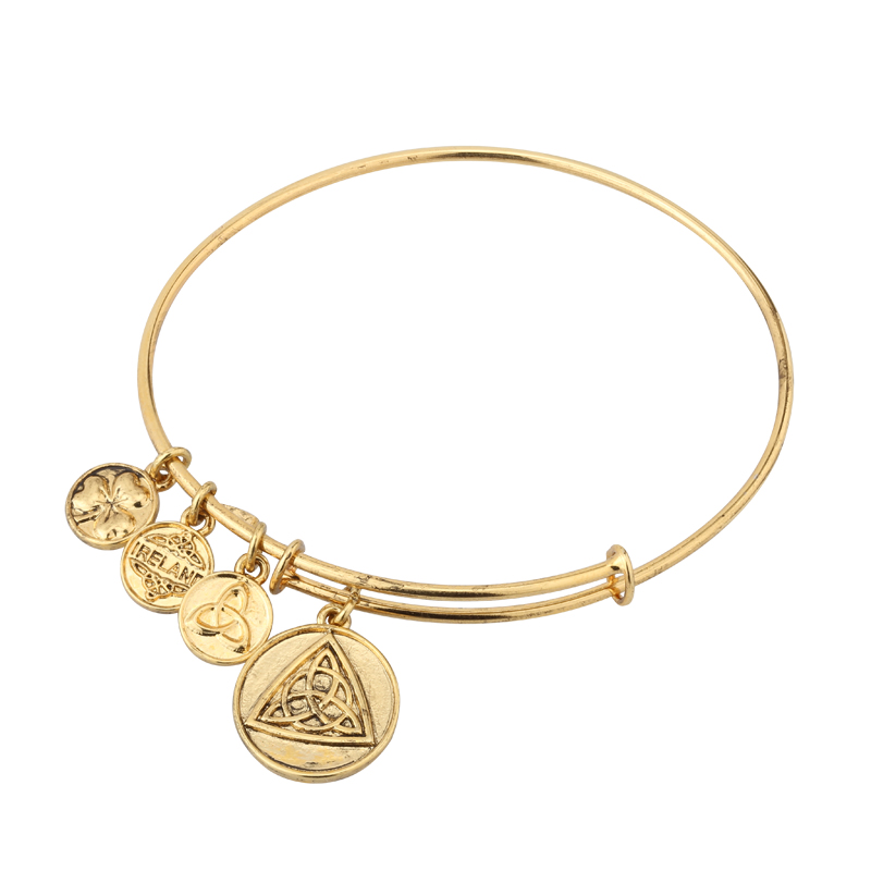 Celtic Knot Charm Bangle S5787G
