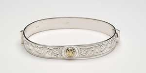 Warrior Shield Bangle with 18K Beading BCT44B