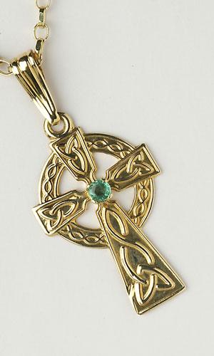 Celtic Emerald Single Stone C451