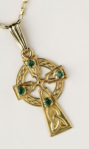Celtic Emerald 4 Stones C452