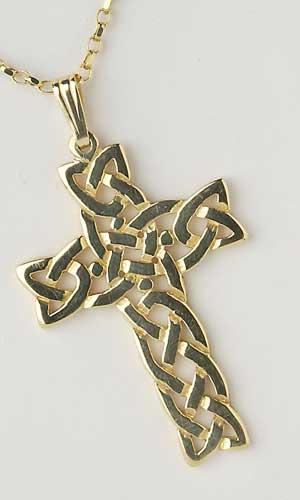 Filigree Celtic Cross Large Heavy Chain C5405