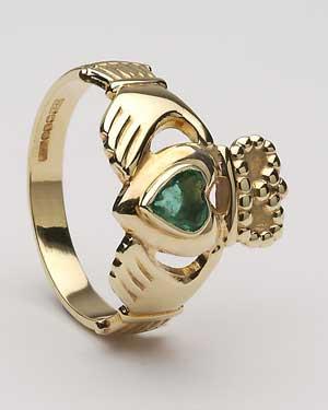 Ladies Heart Shaped Emerald CLAD17