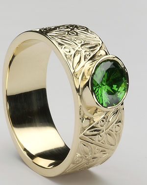 Gents Celtic Ring Stone Set CTR1SS
