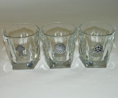Celtic Knot Rocks Glass