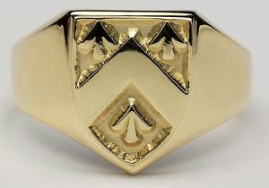 Gents Heavy Shield Ring G100
