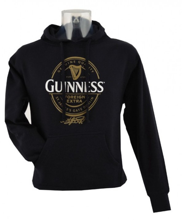 Guinness Label Black Hoodie G5086