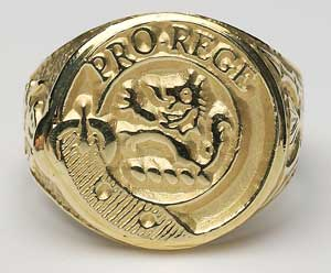 Gents Scottish Crest Hollow Ring G800
