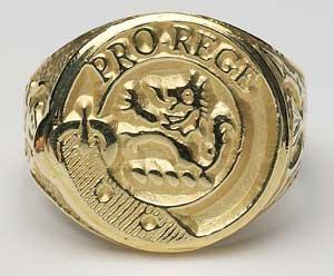 Gents Scottish Crest Hollow Ring G800