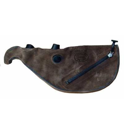 Gannaway Hide Pipe Bag with Zipper & Grommets
