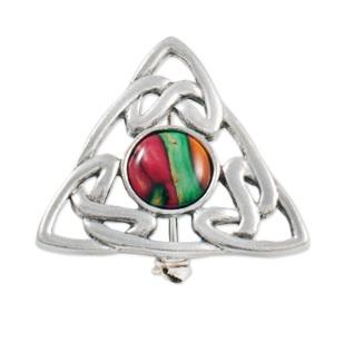 Heathergems Triangular Pewter Brooch HB54