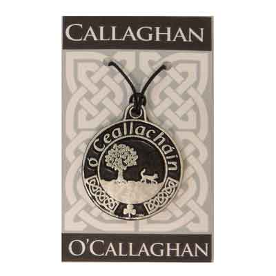 Pewter Irish Family Arms Pendant