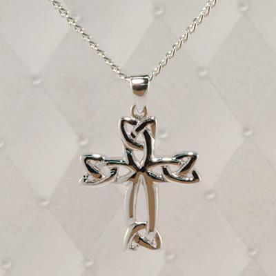 Flora's Cross Silver Pendant - J60CE042