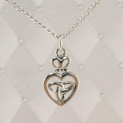 Celtic Heart Silver Pendant JSP11797