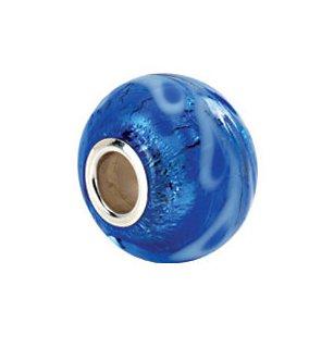 Kera Silver & Blue Glass Bead 24399