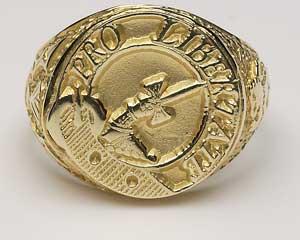 Ladies Scottish Crest Hollow Ring L800