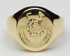 Ladies Oval Seal Ring L900