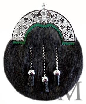 Irish Black Muskrat Sporran MSI-1070