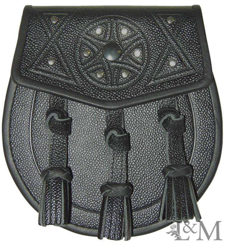 Leather Embossed Sporran #MSL-1011