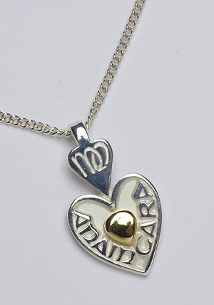 Mo Anam Cara 18K Heart Bead Pendant P183H