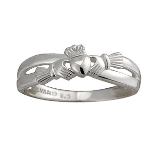 Claddagh Crossover Ring S2750
