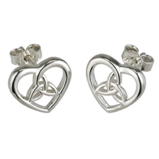 Trinity Heart Earrings S3100