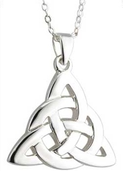 Silver Plated Celtic Knot Pendant S45241