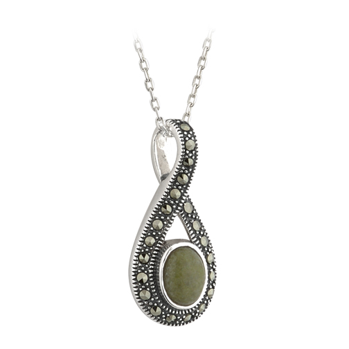 Marble and Marcasite Pendant S45283
