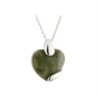 Small Connemara Marble Heart Pendant S45469