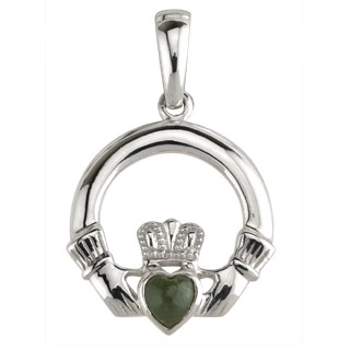 Claddagh with Marble Heart Pendant S4555