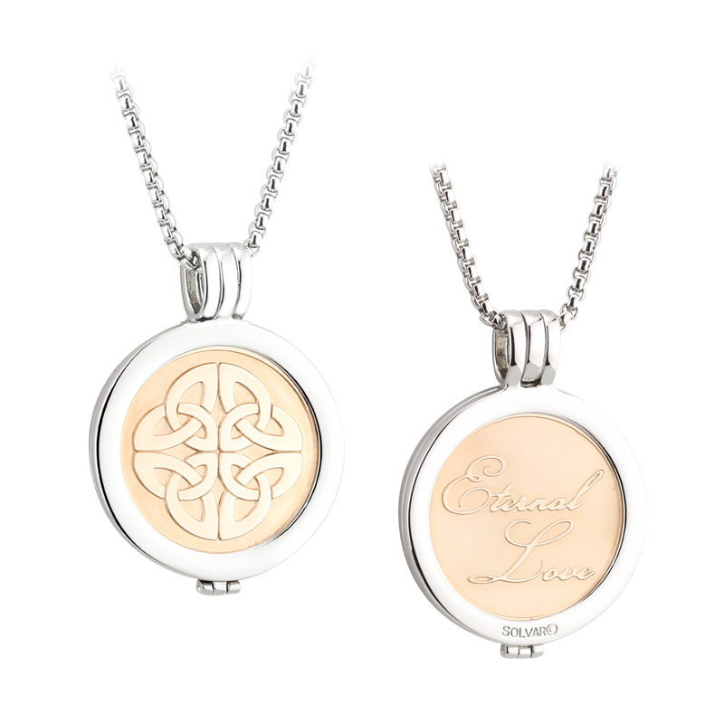 Rose Gold Celtic Knot Coin Pendant S45797