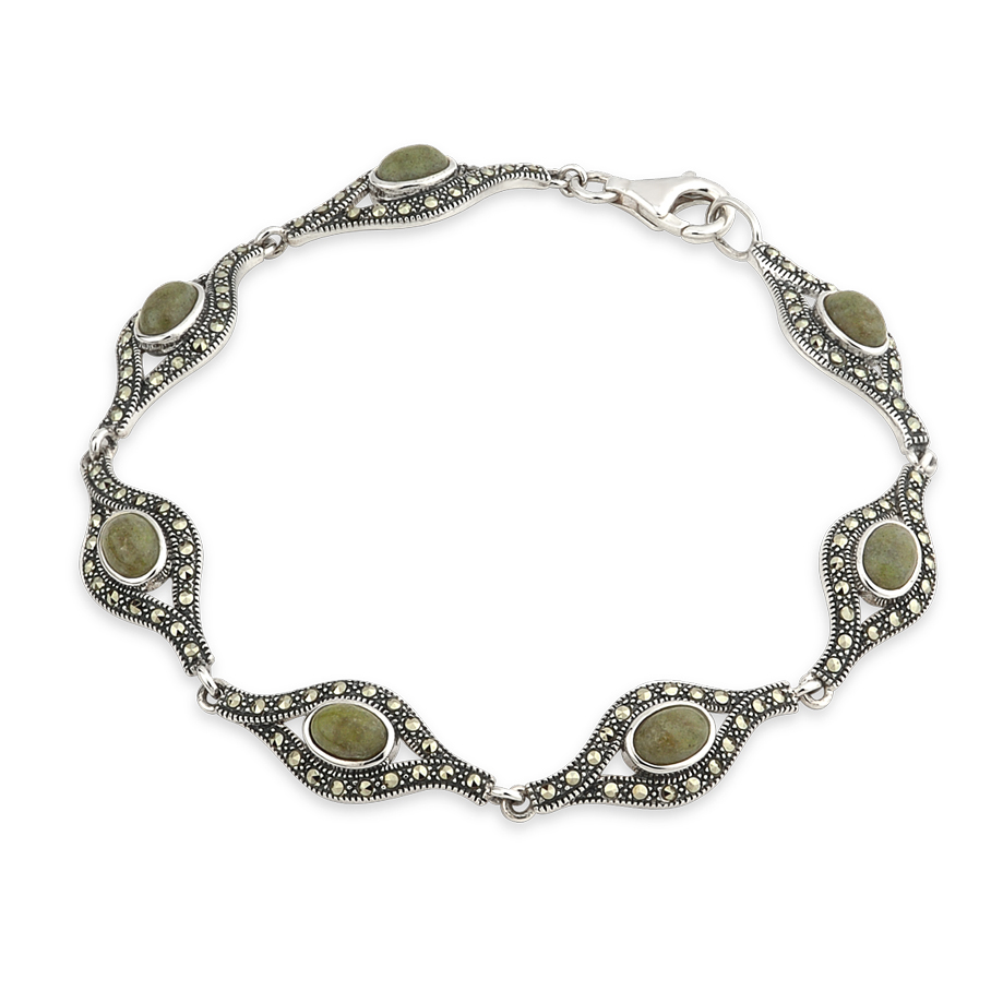 Marble and Marcasite Bracelet S5726