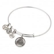 Celtic Knot Charm Bangle S5787S