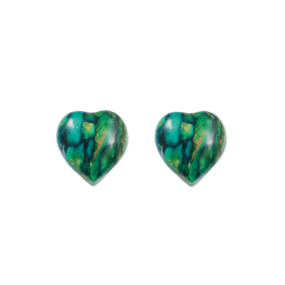 Sterling Silver Heather Heart Studs SE11
