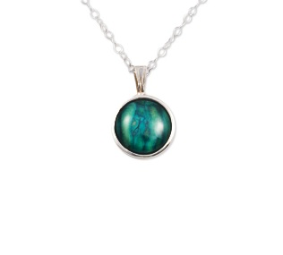 Small Round Sterling Silver Heather Pendant SP300