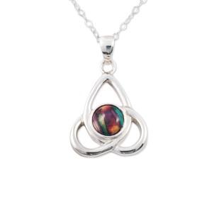 Celtic Knot Silver Heather Pendant SP424