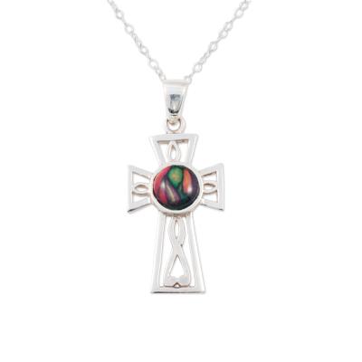 Gothic Celtic Cross Heathergem Pendant SP427