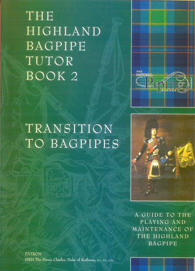 kinnaird bagpipes national piping centre tutor book 2