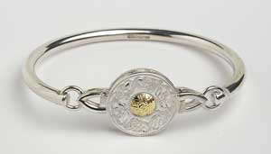Warrior Shield Bangle with Beading Small WB3B