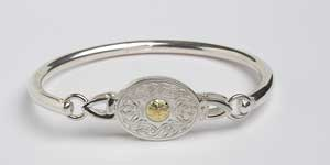 Warrior Shield Oval Bangle with Beading WB8B