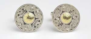 Large Warrior Cufflinks with Bead WCL2B