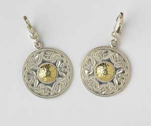 Large Celtic Warrior Earrings with 18K Beading WE2B