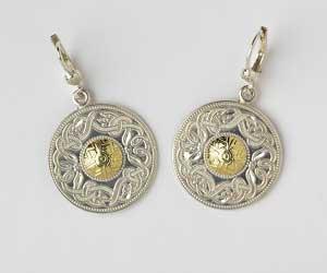 Large Celtic Warrior Earrings with 18K Beading WE2B