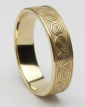 Gents Spiral Band WED114