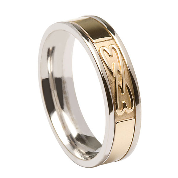Gents Signature Band 2 Hearts Entwined WED430