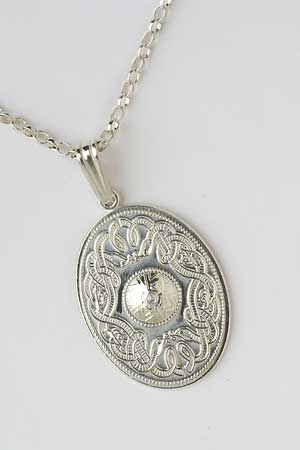 Oval Celtic Warrior Pendant WP7
