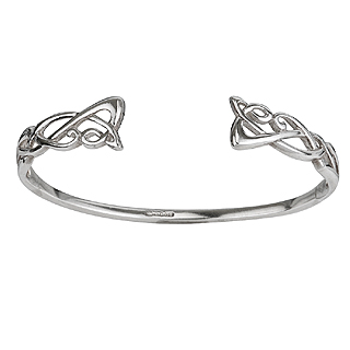 Silver Celtic Torc Bangle S5311