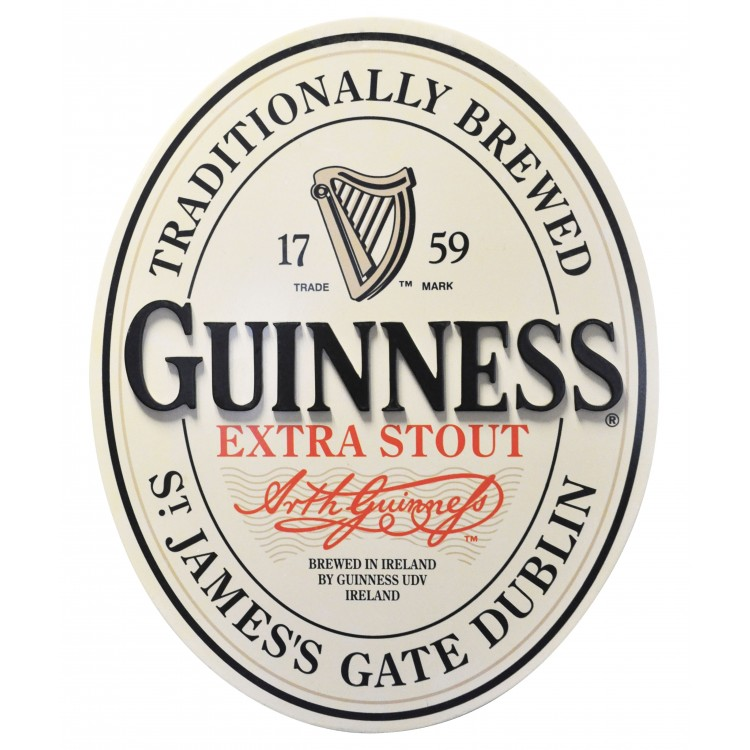 Guinness English Label Sign GNS1013