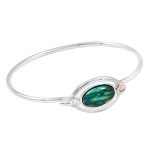 Silver Plated Heathergem Bangle HBA19