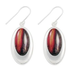 Silver Drop Earrings with Heathergems HE10